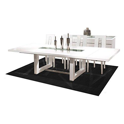 Novo Extendable White Lacquer Dining Table