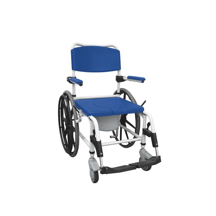 Drive Medical Aluminum Shower Mobile Commode Transport Chair