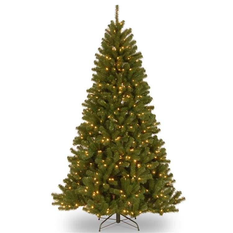 National Tree 7.5 ft North Valley Spruce Tree with Dual Color LED Lights
