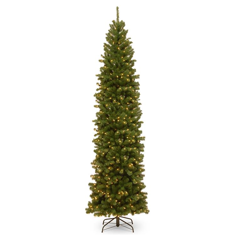 National Tree North Valley(R) Spruce Pencil Slim Tree with Clear Lights [Item # NRV7-358-100]