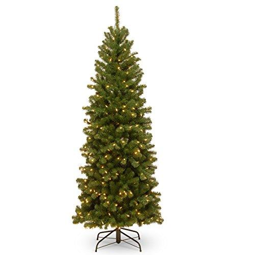 North Valley Spruce Pencil Slim Tree with Clear Lights