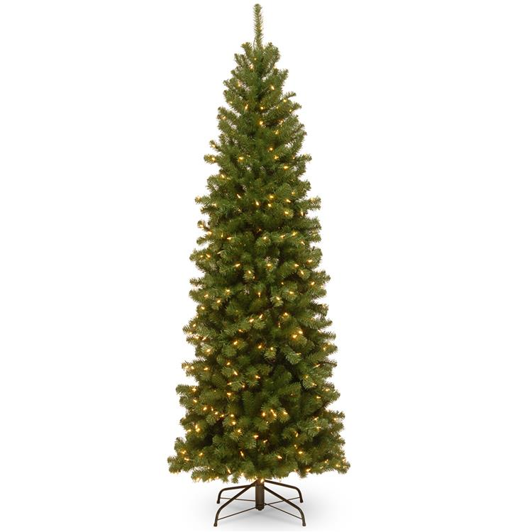National Tree North Valley(R) Spruce Pencil Slim Tree with Clear Lights [Item # NRV7-358-75]