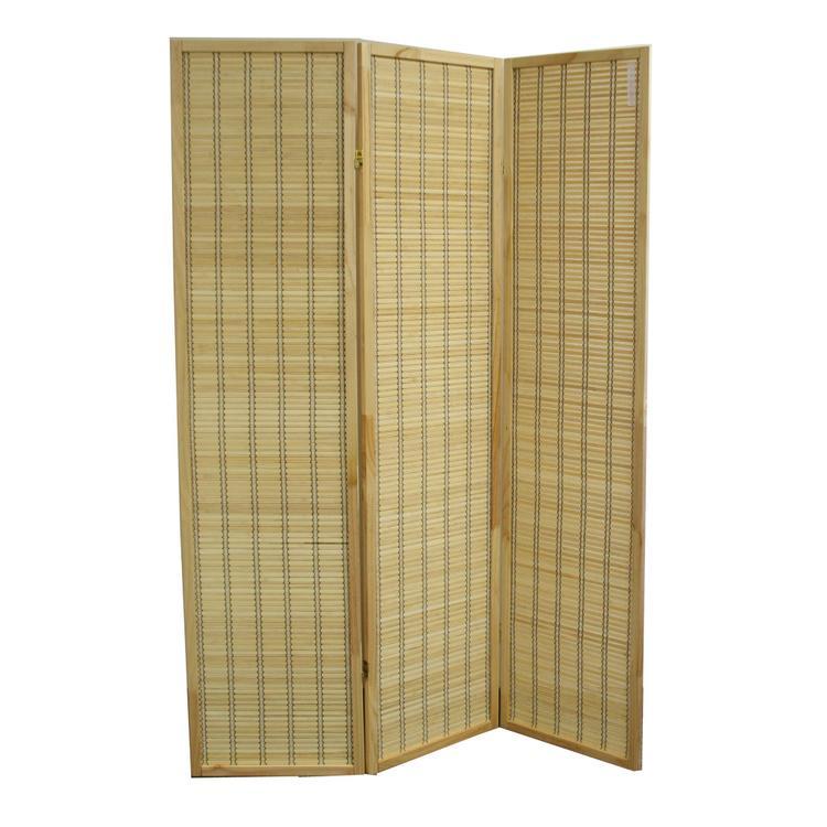 70.25 Inch Serenity Bamboo Three Panel Room Divider