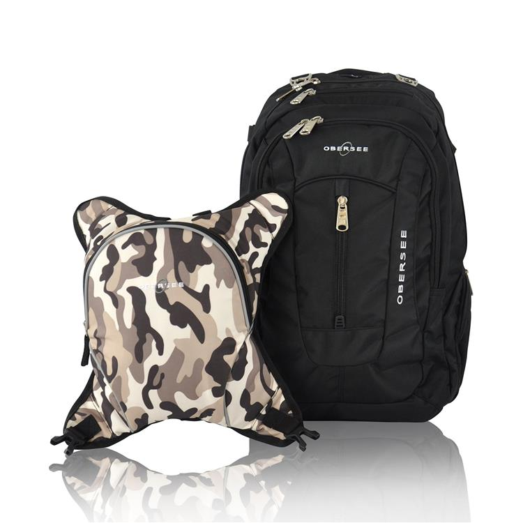 Obersee Bern Diaper Backpack with Detachable Bottle Cooler