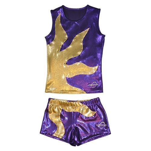 Obersee Cheer Dance Tank and Shorts Set