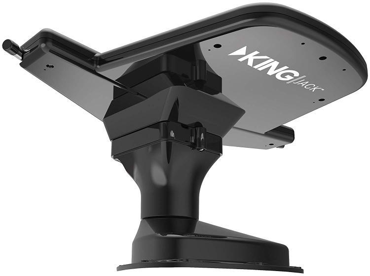 KING Jack Over-The-Air HDTV Antenna w/SureLock Signal Meter - Black