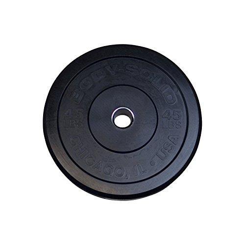 Body Solid Iron 45Lb.Chicago Extreme Olympic Bumper Plate