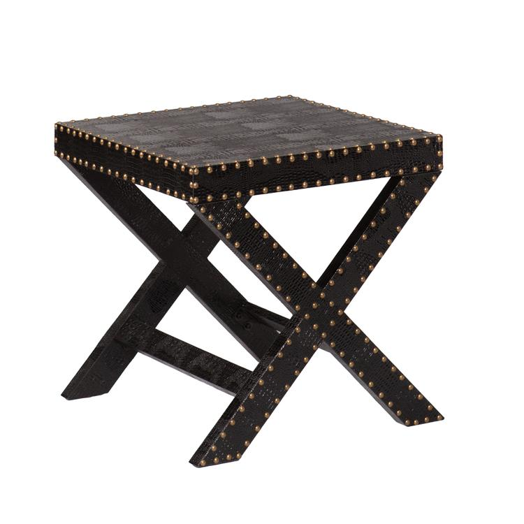 Reptilian Nailhead X Accent Table