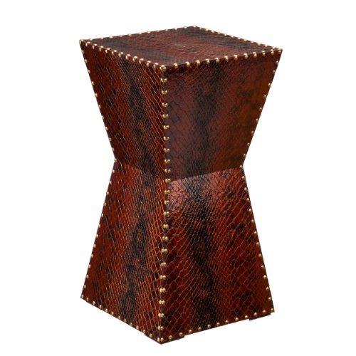 Warrington Faux Leather Accent Table