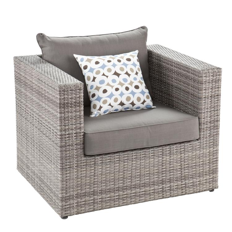 Bristow Outdoor Deep Seating Chair And Ottoman Set