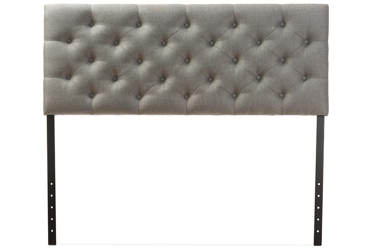 Baxton Studio Viviana Modern And Contemporary Fabric Upholstered Button-Tufted Headboard