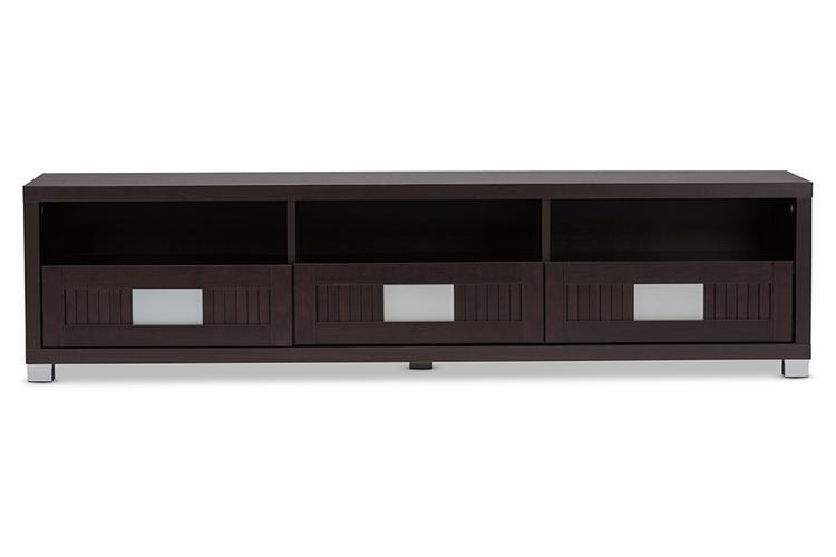 Baxton Studio Gerhardine Wood Tv Cabinet With 3-Drawer