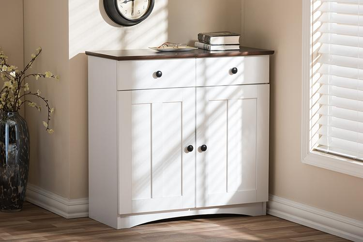 Baxton Studio Lauren Buffet Kitchen Cabinet