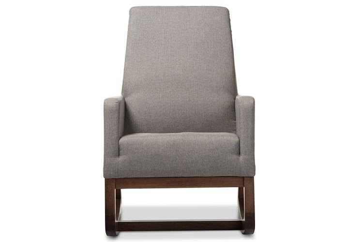 Yashiya Mid-Century Retro Modern Upholstered Rocking Chair