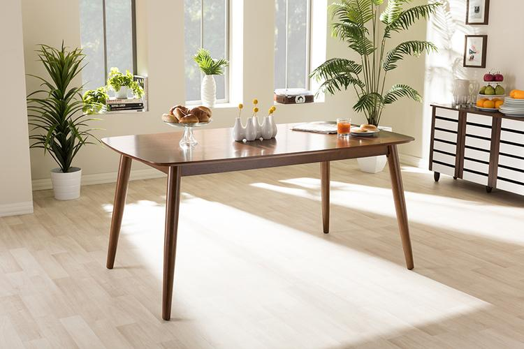 Baxton Studio Flora Mid-Century Modern Dining Table