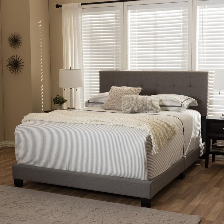 Baxton Studio Brookfield Grid-Tufting Bed