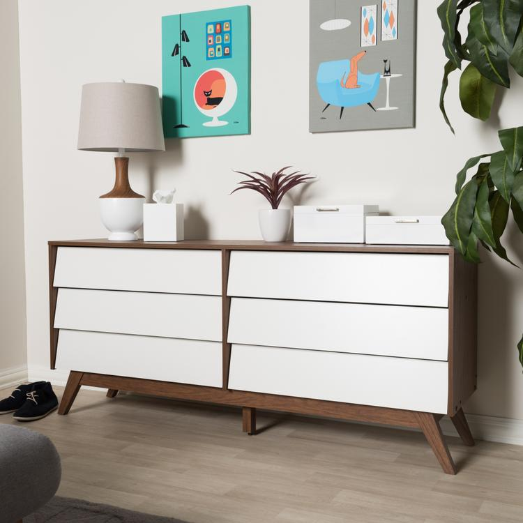 Baxton Studio Hildon Modern 6-Drawer Storage Dresser [Item # OJC-7490]