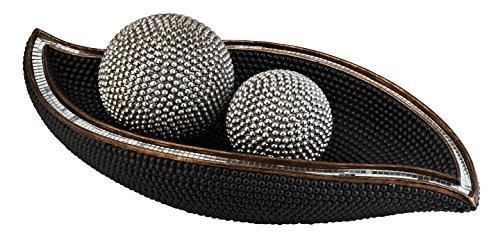 Pearl Stone Decorative Bowl With Spheres