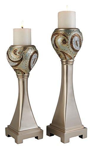 Aurora Paisley Candleholder Set Of 2 (16