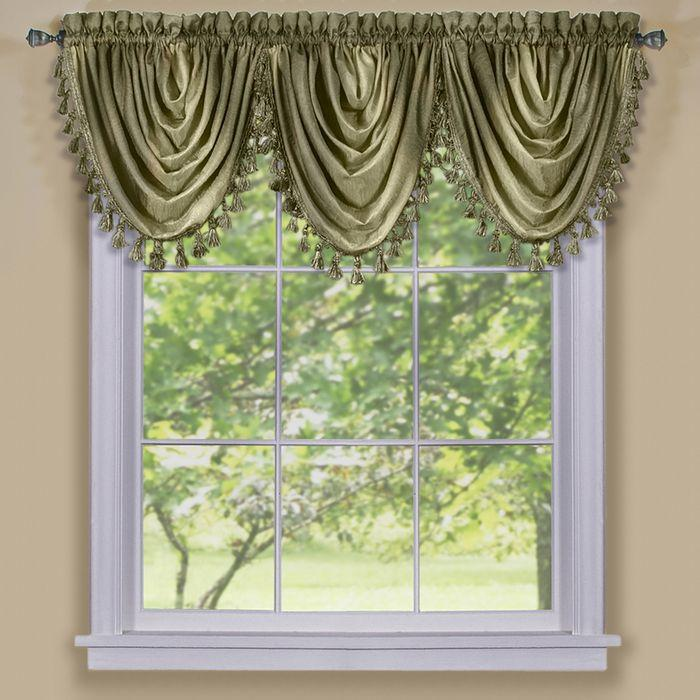 Ombre Window Curtain Waterfall Valance