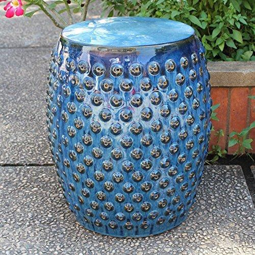 Perforated Drum Ceramic Garden Stool