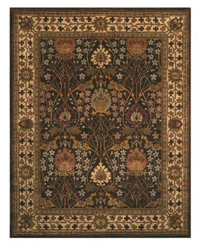 Hand-tufted Wool Brown Traditional Oriental Morris Rug