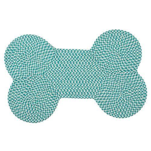 Dog Bone Houndstooth Bright - Turquoise 22