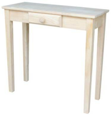 International Concepts Rectangular Hall Table W/Drawer