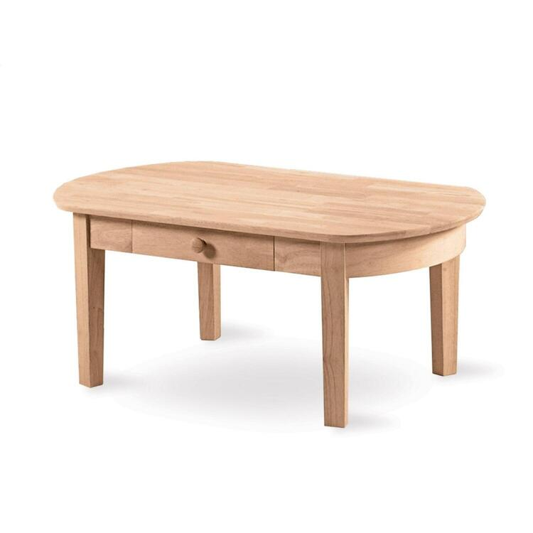 International Concepts Philips Oval Coffee Table