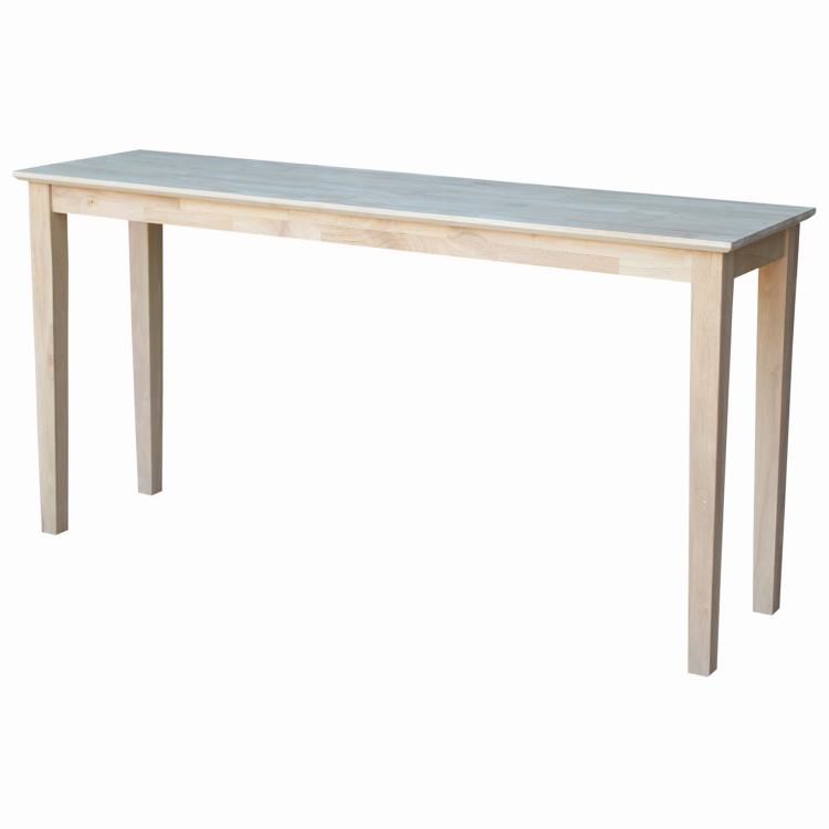 International Concepts Shaker Console Table - Extended Length