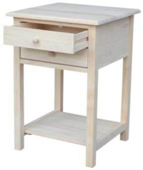 International Concepts Lamp Table With 2 Drawers