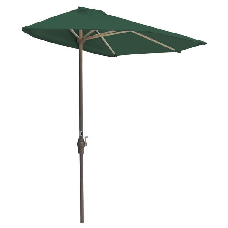 OFF-THE-WALL BRELLA Sunbrella Half Umbrella, 7.5'-Width, Forest Green Canopy [Item # OTWB-7SG]