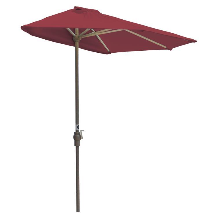 OFF-THE-WALL BRELLA Olefin Half Umbrella, 9'-Width, Red Canopy [Item # OTWB-9OR]