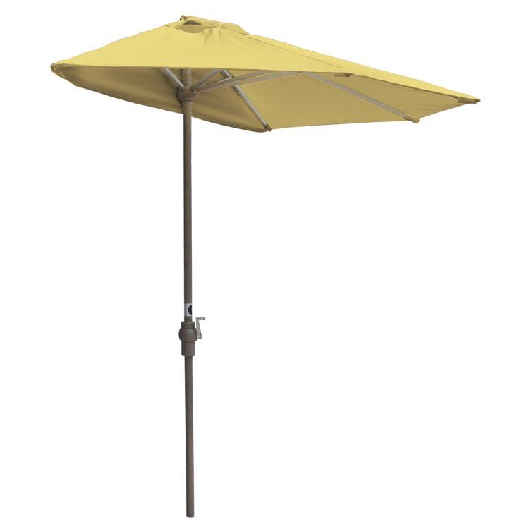 OFF-THE-WALL BRELLA Olefin Half Umbrella, 9'-Width, Yellow Canopy [Item # OTWB-9OY]