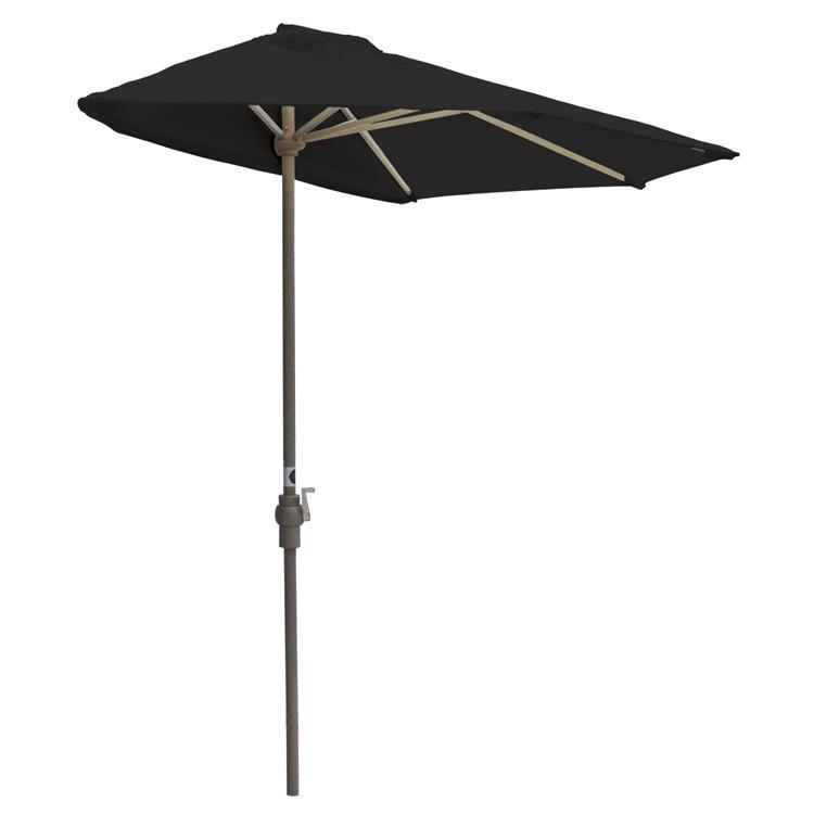 Blue Star OFF-THE-WALL BRELLA Sunbrella Half Umbrella, 9'-Width, Black Canopy [Item # OTWB-9S-BK]