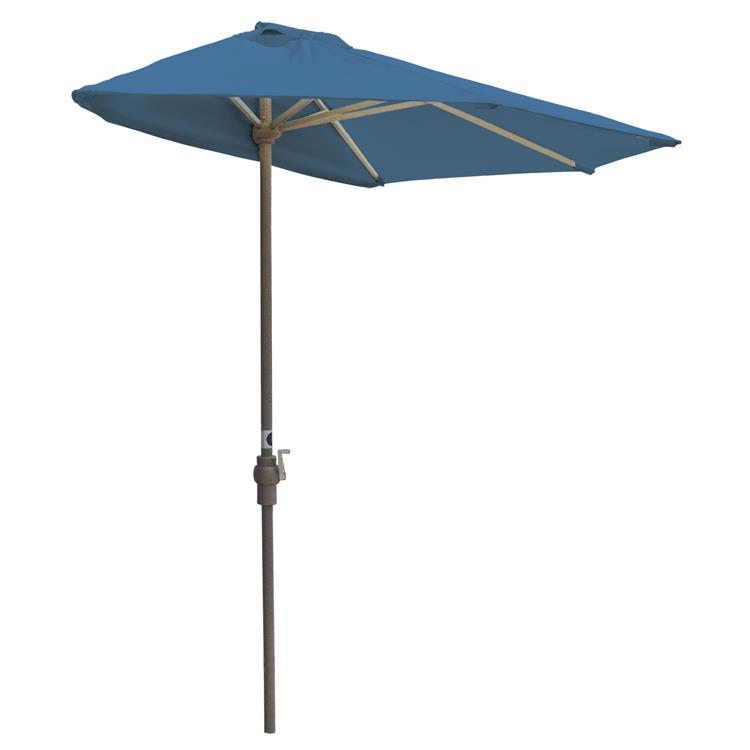 Blue Star OFF-THE-WALL BRELLA Sunbrella Half Umbrella, 9'-Width, Pacific Blue Canopy [Item # OTWB-9SB]