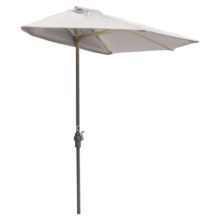 Blue Star OFF-THE-WALL BRELLA Sunbrella Half Umbrella, 9'-Width, Natural Canopy [Item # OTWB-9SN]