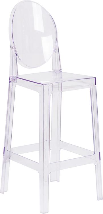 Flash Furniture Ghost Barstool With Oval Back