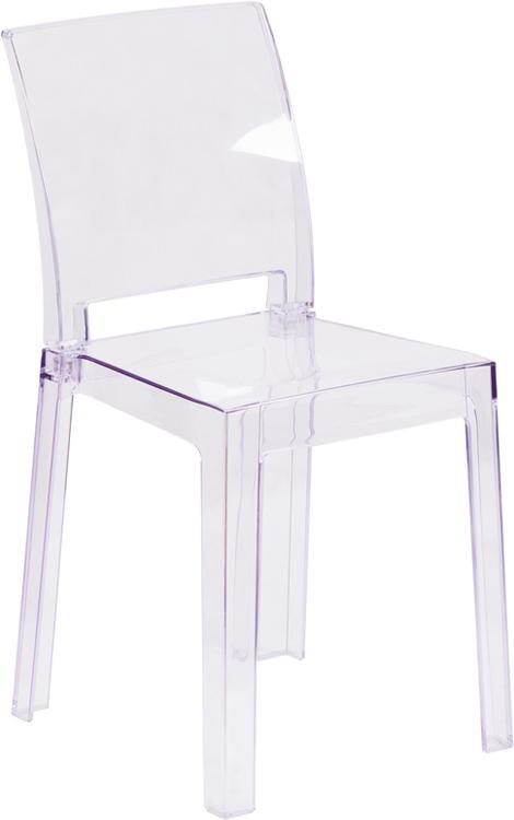 Flash Furniture Ghost Chair With Square Back