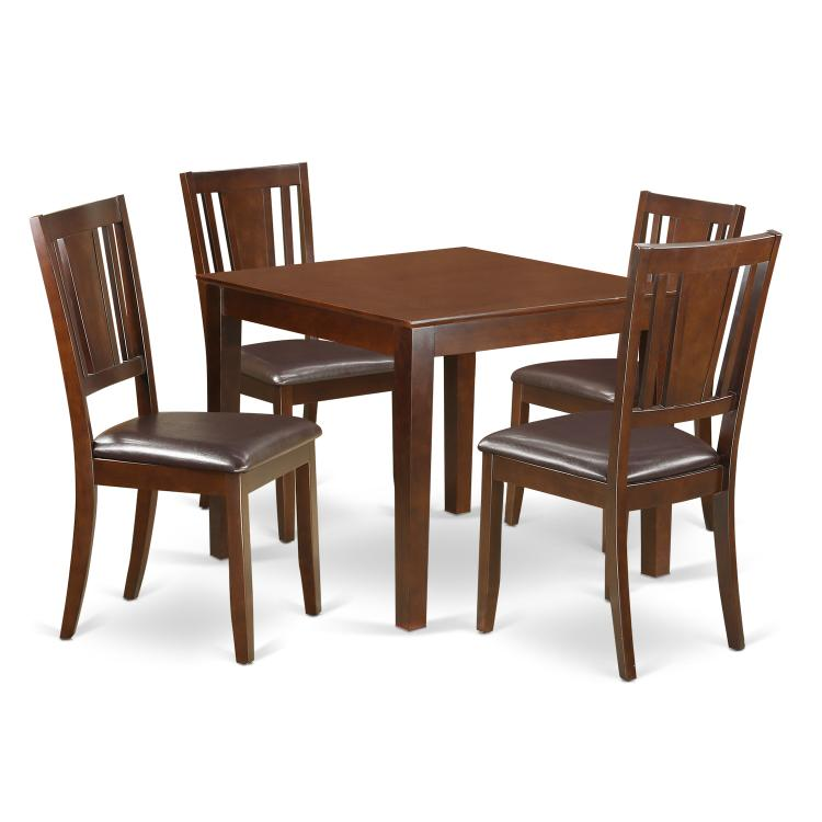 Dinette Set With A Dining Table And Dining Chairs [Item # OXDU5-MAH-LC]