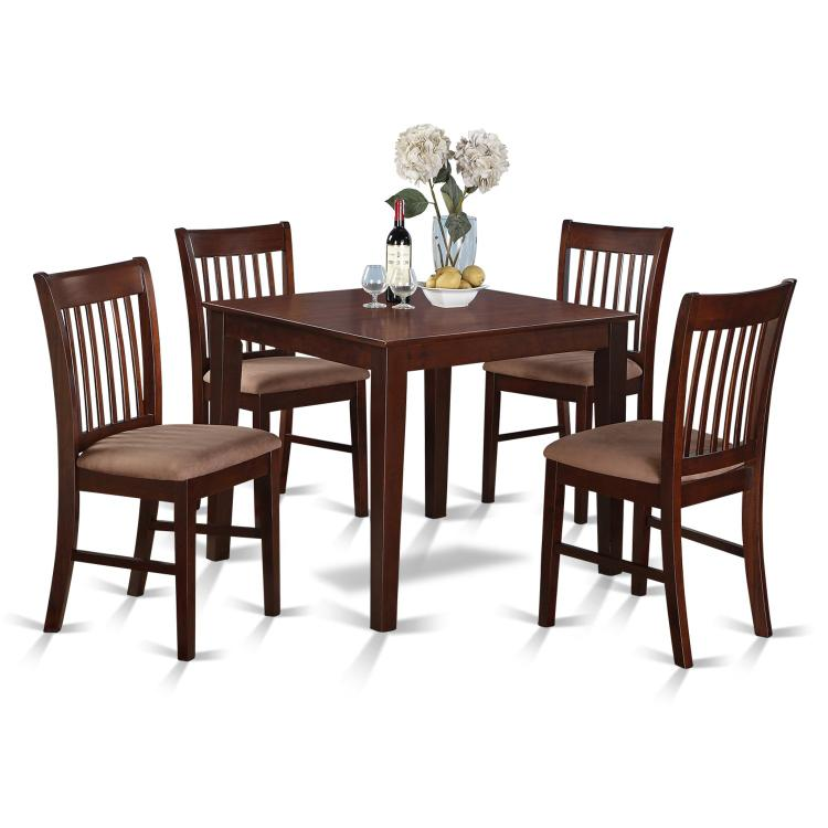 East West Furniture Small Kitchen Table Set -Square Table And Kitchen Dining Chairs