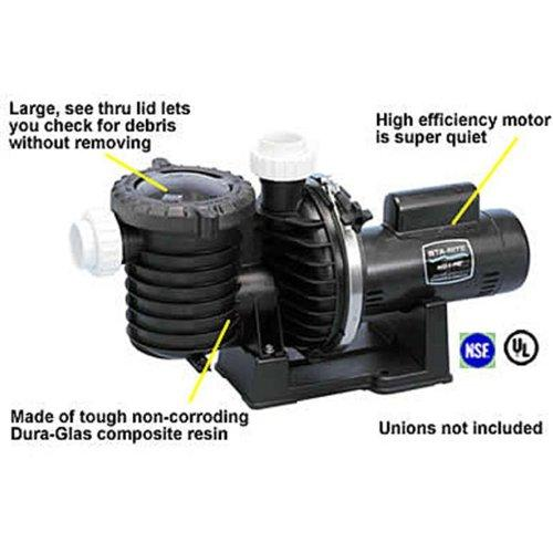 Max-E-Pro Energy Efficient Single Speed Full Rated Pool and Spa Pump, 2 HP, 230-Volt
