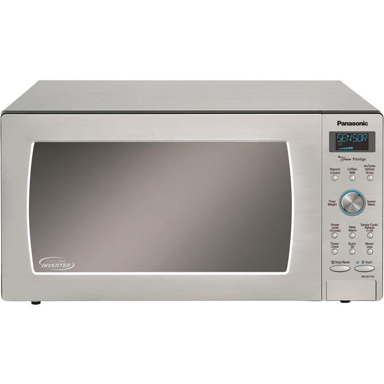 Panasonic 1.6-Cu. Ft. 1250W Built-In / Countertop Cyclonic Wave Microwave Oven with Inverter Technology in Stainless Steel
