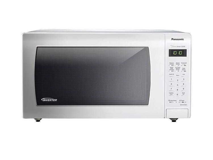 Panasonic 1.6 Cu. Ft. 1250W Genius Sensor Countertop Microwave Oven with Inverter Technology, White