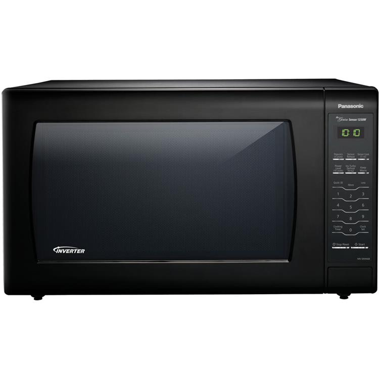 Panasonic 2.2 Cu. Ft. 1250W Genius Sensor Countertop Microwave Oven with Inverter Technology in Black