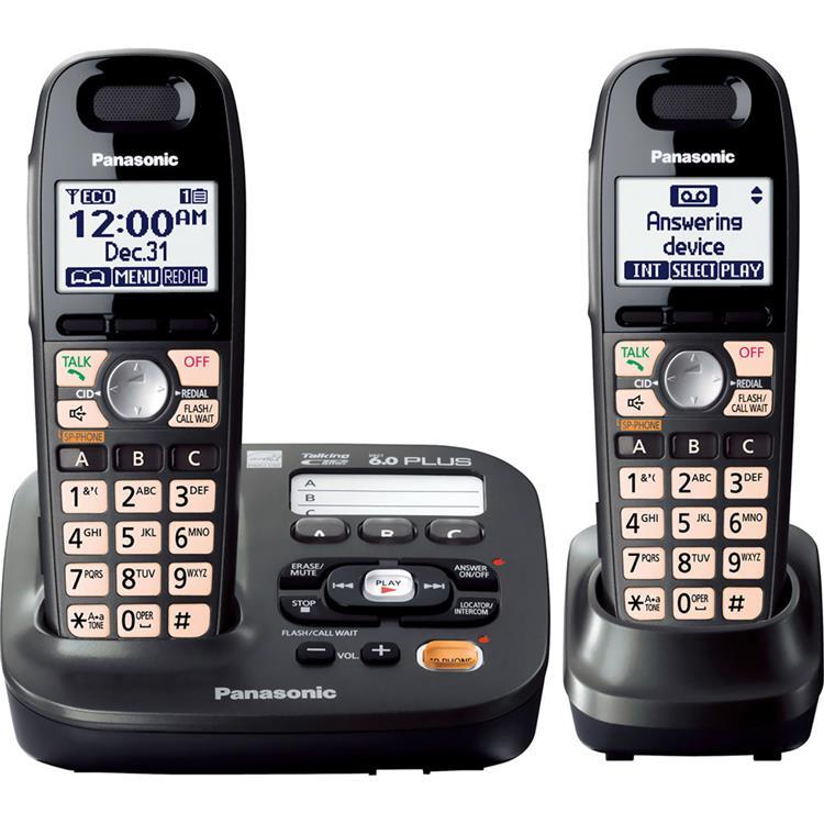 Panasonic DECT 6.0 Plus Expandable Answer System w/2 Handsets