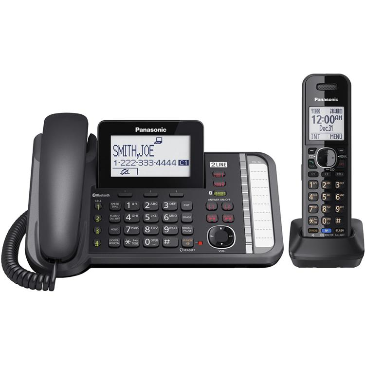 Panasonic DECT 6.0  Two-Line Telephone System with One Handset
