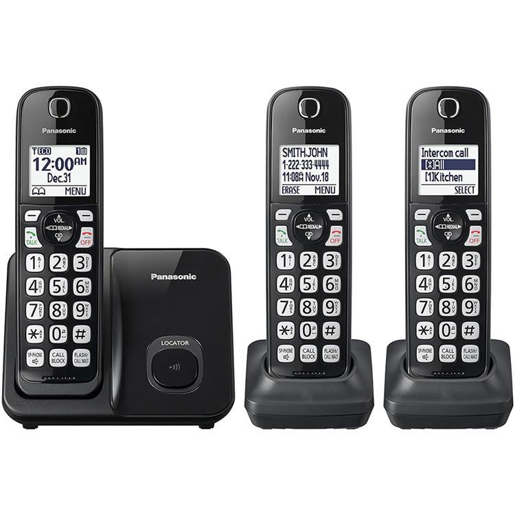 Panasonic Expandable Cordless Phone with Call Block - 3 Handset
