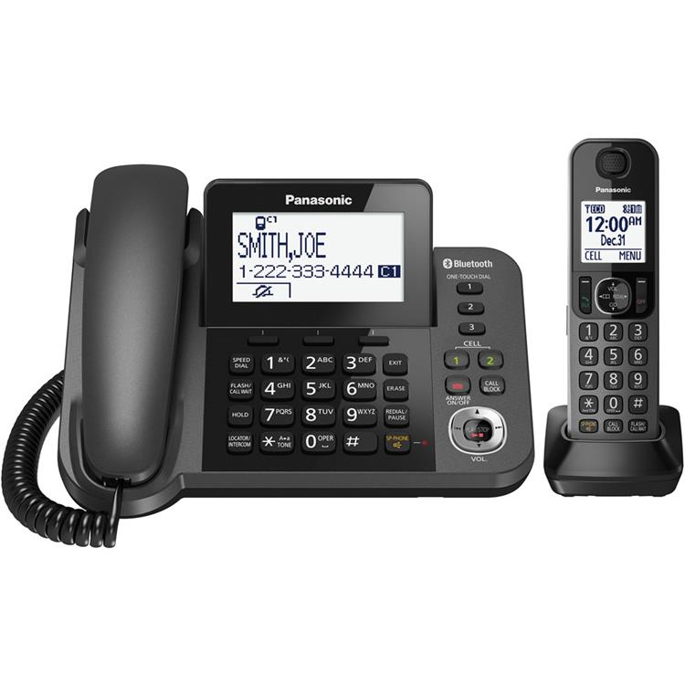 Panasonic Link2Cell Corded/Cordless 1-Handset and 1-Line Digital Phone