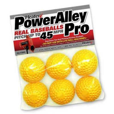 Heater Sports PowerAlley Pro Yellow Dimple Real Pitching Machine Baseballs